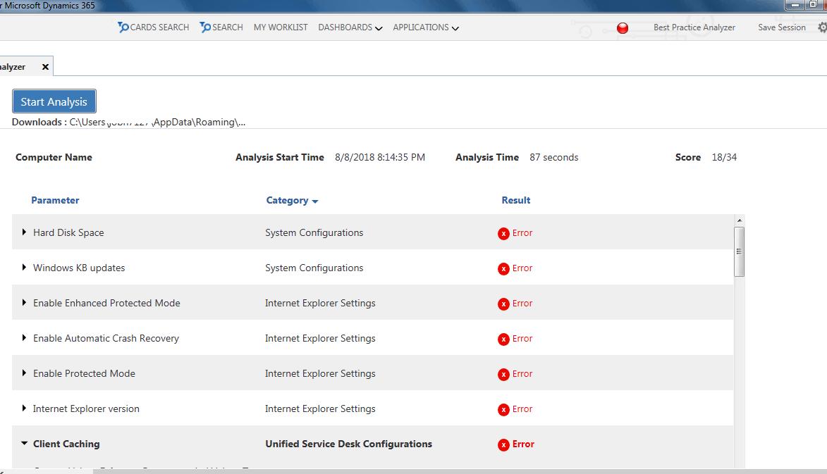 Best Practice Analyzer   Unified Service Desk 3.3